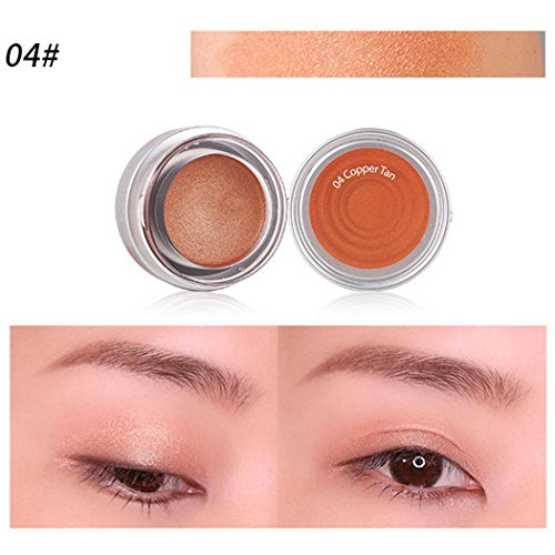 shadow Cosmetic Make Up Single Color Eye Shadow (T3-04 Copper Tan) (Copper Tan Shimmer)