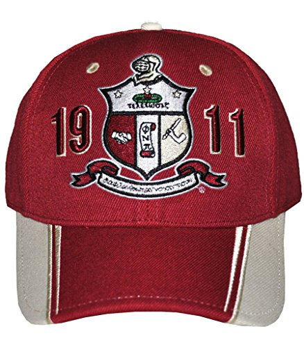 Kappa Alpha Hat (Kappa Alpha Psi Mens Two-Tone Adjustable Cap Red)