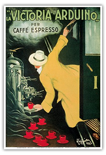 Pacifica Island Art - La Victoria Arduino Cafe Espresso - Vintage Advertising Poster by Leonetto Cappiello c.1890 - Master Art Print - 13in x 19in