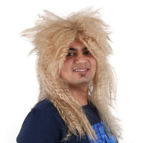 Heavy Metal Rocker Wig Headbanger peluca Cosplay Punk Rocker ...