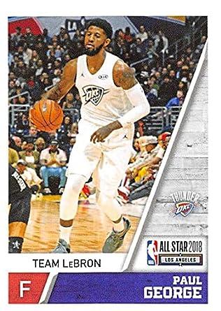 b6a481f8eb995 Amazon.com: 2018-19 Panini NBA Stickers #419 Paul George Team LeBron ...