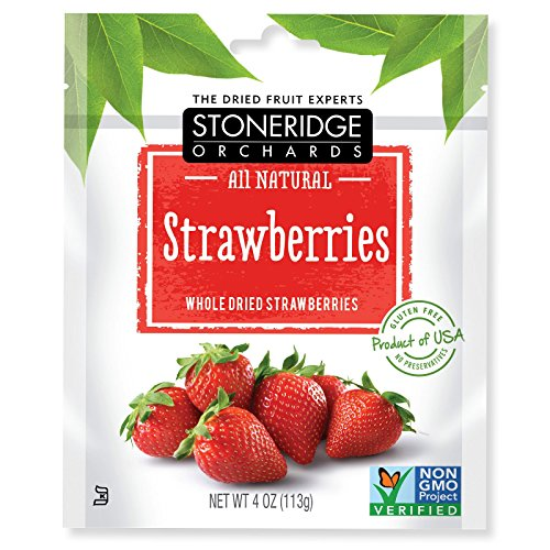 Stoneridge Orchards  Strawberries  Whole Dried Strawberries  4 Oz  113 G  Pack 1