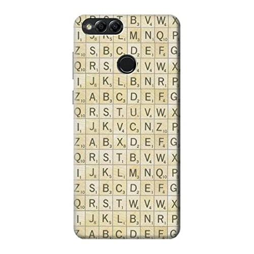 Innovedesire Scrabble Word Game Etui Coque Housse pour Huawei Honor 7X