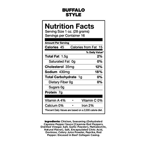 Chef's Cut Real Snack Chicken Buffalo Style Sticks, 1 Ounce (16 Count)