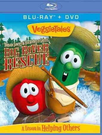 VEGGIE TALES TOMATO SAWYER & HUCKLEBERRY LARRYS BIG RIVER RESCUE BR/DVD VEGGIE TALES TOMATO SAWYER