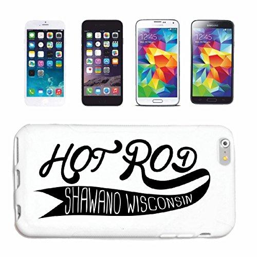 """cas de téléphone iPhone 6S """"HOT ROD GARAGE NEW YORK CITY LOS ANGELES AMÉRIQUE US HOT ROD CAR Mucle CAR V8 ROUTE 66 USA AMÉRIQUE"""" Hard Case Cover Téléphone Covers Smart Cover pour Apple iPhone en blanc"""