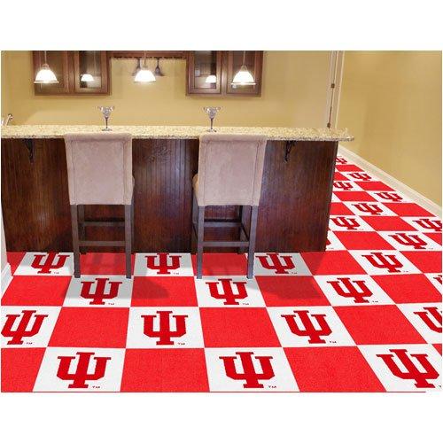 Fan Mats 8537 IU - Indiana University Hoosiers 18'' x 18'' Team Carpet Tiles (10 Logo, 10 Solid per Box - appx 45 sq ft) by Fanmats