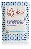 Loisa Organic Brown Rice & Black Beans with Sazon (3 Pack), Ready to Heat & Eat, USDA Organic, Non-GMO, Gluten-Free, Vegan, No Preservatives,No Artificial Flavors or Colors, BPA-Free Pouch, 8.5 Ounce