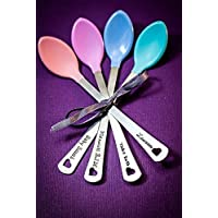 Personalized Baby Spoons - DII ABC - Personalized Name or Date - BPA Free - Feeding - Heat Sensitive - Fast 1 Day Shipping