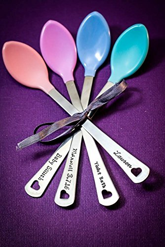 Personalized Spoon Baby - Personalized Baby Spoons - DII QQQ - Name Date - BPA Free - Feeding - Heat Sensitive - Fast 1 Day Production