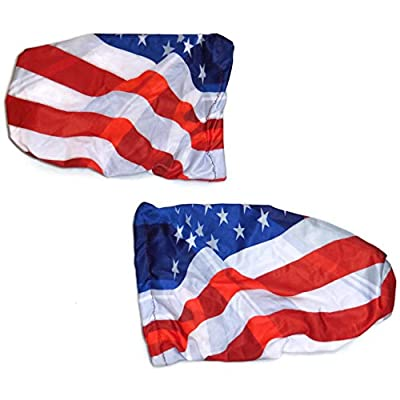 3D Image American Flag 4 Way Stretchable Car Mirror Cover, Spandex