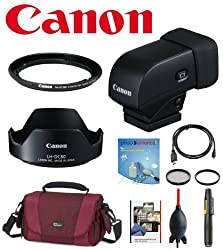 Deluxe Accesory Kit For Canon G1x Mark Ii W Canon Evf-dc1 Electronic Viewfinder, Canon Lh-dc80 Lens Hood, Canon Fa-dc58e 58mm Filter Adapter