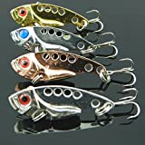 Fashion Lot 4pcs Metal Fishing Lures Bass Spoon Crank Bait Tackle offers