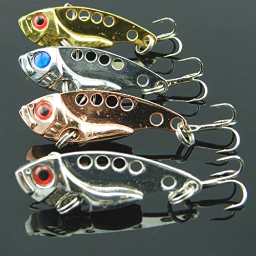 Fashion Lot 4pcs Metal Fishing Lures Bass Spoon Crank Bait - Picture Honolulu Frames