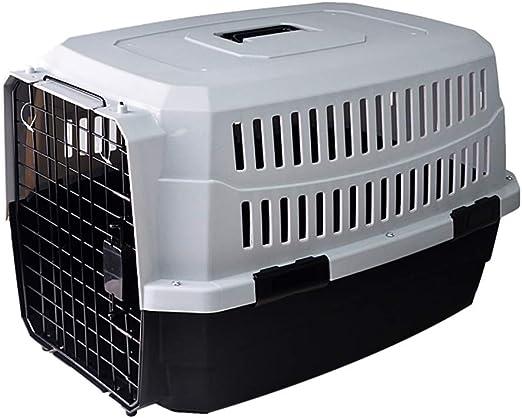 ZUOZUOZUO Caja De Aire Comprimido para Mascotas Perro Gato Maleta Transporte Aéreo Caja De Envío Grande para Perros Jaula para Gatos Portátil Fuera Blanco + Negro 81X57X60Cm: Amazon.es: Productos para mascotas