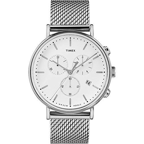 Timex Men's Fairfield Chronograph Stainless steel Mesh Bracelet TW2R27100