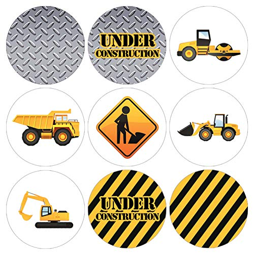 (Construction Birthday Party Favor Labels | 216 Stickers)