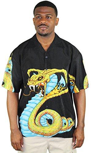 Moda Essentials Assorted Men's Short Sleeve Button Up Shirt Blk SZ L
