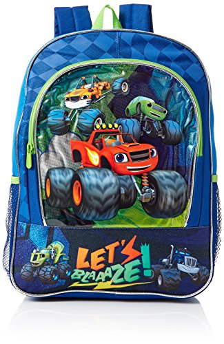 Nickelodeon Boys' Blaze and the Monster Trucks Backpack, Blue