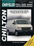 Dodge Vans, 1989-1998, Chilton Automotive Editorial Staff, 0801989663