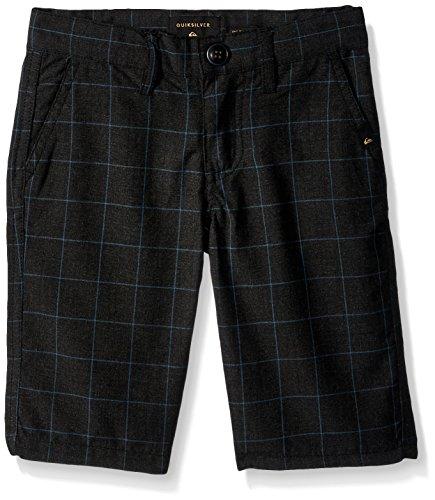Quiksilver Woven Shorts - Quiksilver Boys' Little Regeneration Kids, Dark Grey Heather, 6