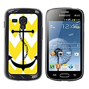 - chevron anchor boat - - Monedero pared Design Premium cuero del tir¨®n magn¨¦tico delgado del caso de la cubierta pata de ca FOR Samsung GALAXY Trend Duos S7562 Funny House