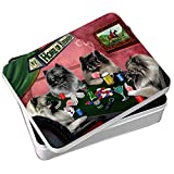 Home of Keeshond 4 Dogs Playing Poker Photo Tin