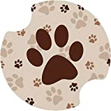 Thirstystone Paw Prints Car Cup Holder Coaster, 2-Pack