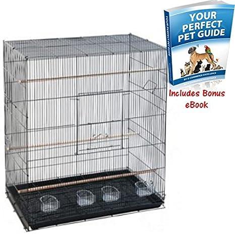 Spacious rectangular forma jaula de pájaros - tradicional y ...