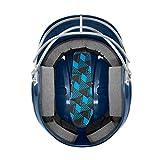 EASTON Alpha Fastpitch Softball Batting Helmet with Mask, 2021, Medium-Large, Royal, Dual-Density Impact Absorption Foam, High Impact Resistant ABS Shell, BioDRI Liner, Removable Logo