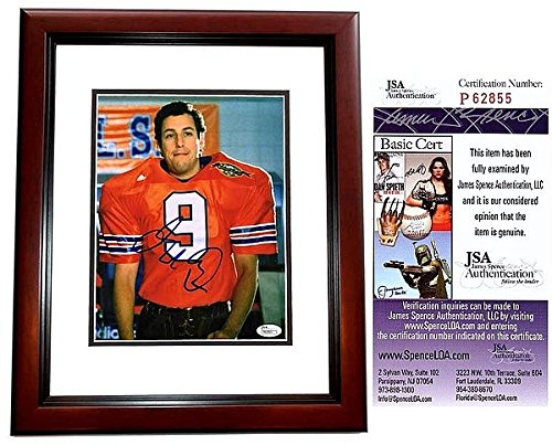 Boucher Signed - Adam Sandler Autographed Signed The Waterboy 8x10 Photo Mahogany Custom Frame - JSA Authentic - Bobby Boucher