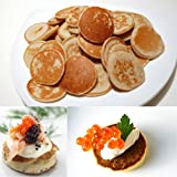 Blini 16 Pieces - Traditional Size French Canape for Caviar