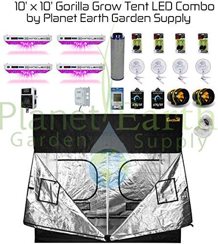51j7bV6Vb0L Gorilla Grow Tent (10' x 10') LED Combo Package #1