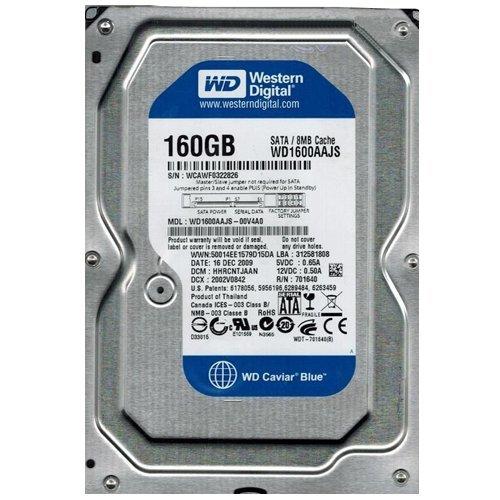 (WD1600AAJS-00V4A0 Western Digital 160GB 7200RPM SATA 3.0 Gbps 3.5 inch Caviar Hard Drive)