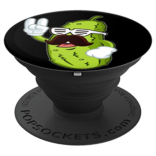 Rocker Pickle with Mustache - PopSockets Grip and Stand for Phones and Tablets -