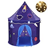 Space Spaceship Castle Children Play Tent with Carry Bag by Wonder Space, Ideal for Indoor & Outdoor Use (Blue)