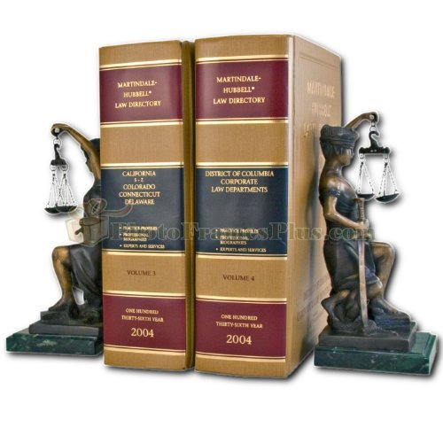 (Kneeling Lady Justice Legal Bookends)