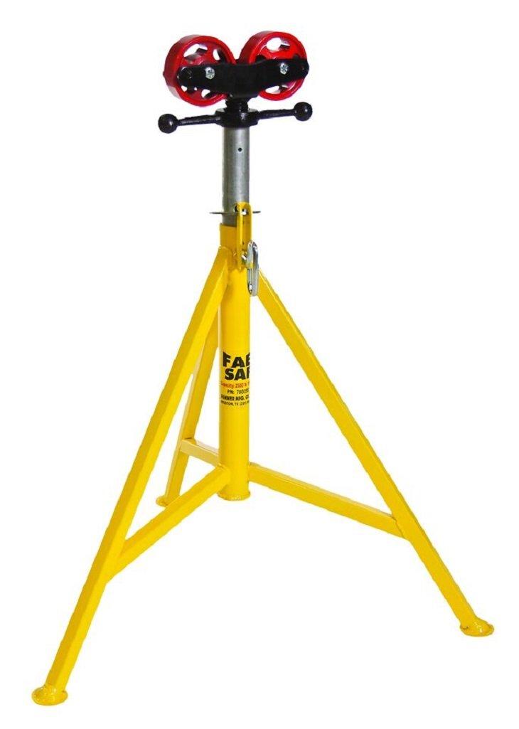 Sumner 780400 FAB SAF Jack, Roller Head, 32'' to 52'' Adjustable Height, 3500 lb. Capacity