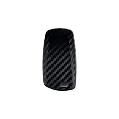 1797 Compatible Key Fob Cover for BMW Accessories 1 2 3 4 5 6 7 Series X1 X2 X3 X4 X5 X6 F30 F10 F01 G11 F15 F16 Case Holder Car Remote Chain Ring Shell Protector Women Men Silicone Carbon Fiber Black: Automotive