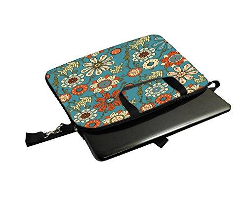 Snoogg Laptop Netbook Computer-Tablette PC -Schulter-Kasten -tragender Hülsen- Beutel-Beutel- Abdeckungs-Schutz- Halter für Apple iPad / Hp Touchpad Mini 210 T100 PS Touchpad Mini t100ta / Acer Aspire jrCKNV