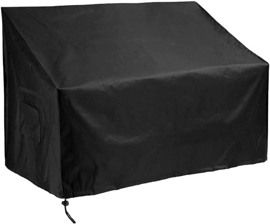M MAIUS Garden 2/3/4 Seater Bench Cover Waterproof Outdoor Furniture Covers with Durable Oxford Material Extra PVC Coating, Patio Loveseat Cover (2 seat(53L x 26W x 35H))