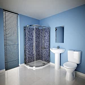 Trueshopping - Mampara de ducha cerrada (1000 x 800 mm)