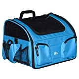 Pet Gear Pet Bike Basket 3-in-1 Car Seat/Carrier/Bike Basket for Cats and Dogs up to 12-Pounds, Ocean Blue