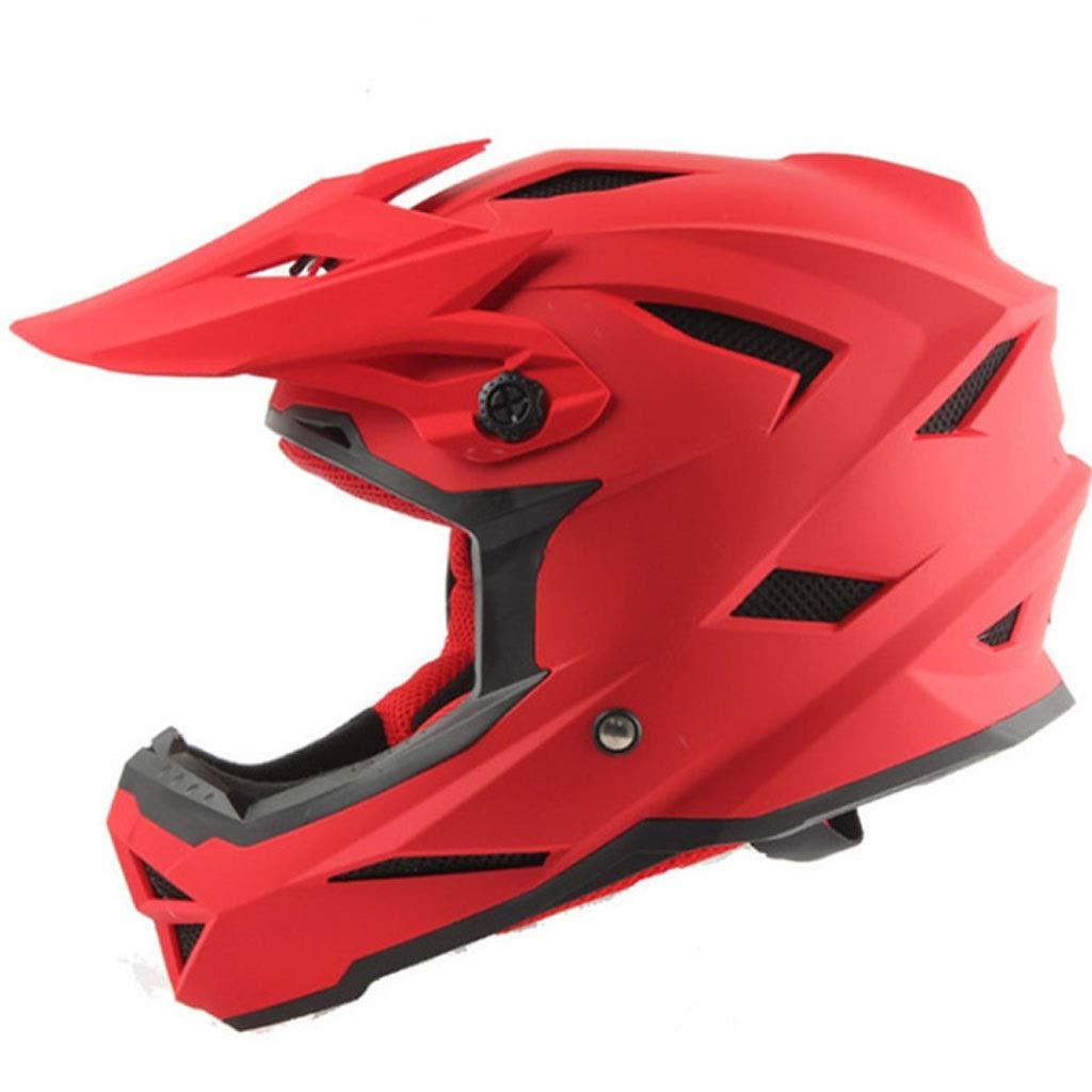 ヘルメット黒と白オフロードフルフェイスヘルメットオートバイオートバイマウンテンバイクダウンヒルヘルメットプロフェッショナルな男性と女性のレーシングヘルメット (色 : 赤, サイズ さいず : XL) B07QQ181PT XX-Large|赤 赤 XX-Large