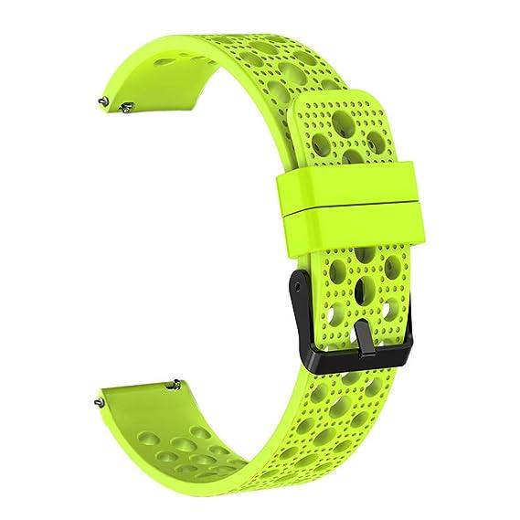 ... Strap Watch para Hombre y Mujer de Color sólido Correa Poroso Brazalete de Silicona Pulsera Suave Wristbands de Deportiva Bandas: Amazon.es: Relojes