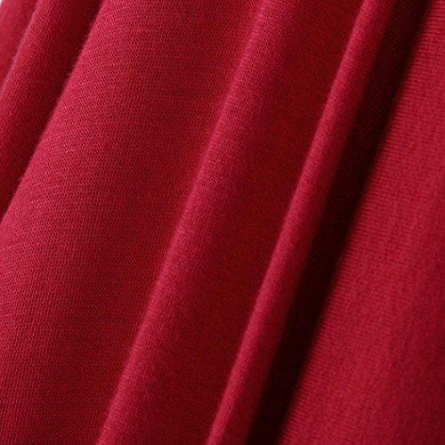 Abrigo Abierto Flotante Chaqueta Largo de Abrigo Kaftan Cárdigan Blusa de Manga la Outwear Ropa Rojo para de Larga Chaquetas de de de Cinnamou Mujer Mujer T6KIacq