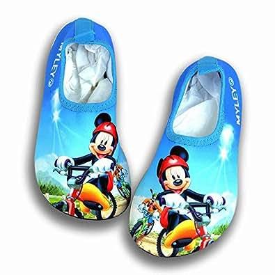 Kids Swim Water Shoes Barefoot Aqua Socks Mickey Shoes for Beach Pool Surfing Yoga