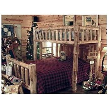 This item Log Cabin Loft Bed. Amazon com  Log Cabin Loft Bed  Kitchen   Dining