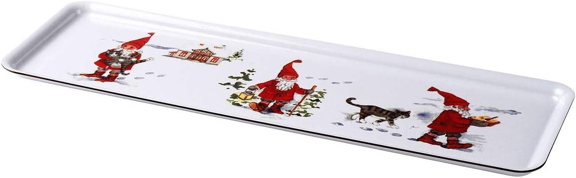 VINTER 2020 vassoio 16x2 cm Babbo Natale fantasia bianco//rosso