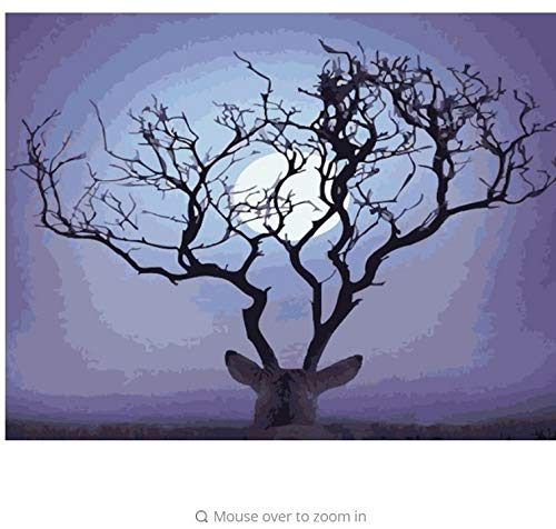 LIWEIXKY Baum Baum Baum Bild An Der Wand Acrylfarbe Durch Zahlen DIY Malerei by Zahlen Einzigartiges Geschenk Ölgemälde Deer Tiere - Rahmenlos - 40x50cm B07PS44V6P | Verrückter Preis, Birmingham  246647